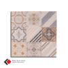 Retro tegel Spectra Mix decor 59x59cm , Gepolijst, Gerectificeerd
